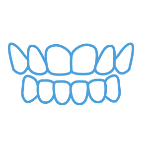 <strong>Open bite</strong> </br> <p class='formDescription'>Front teeth don't overlap or touch the lower teeth.</br></br></p>
