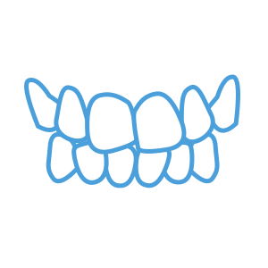 <strong>Crooked</strong> </br> <p class='formDescription'>Teeth misaligned and/or not straight.</br></br></br></p>