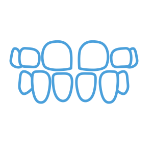 <strong>Spacing</strong> </br> <p class='formDescription'>Teeth with extra space between them.</br></br></br></p>